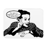 Retro Woman Humor Rectangular Photo Magnet