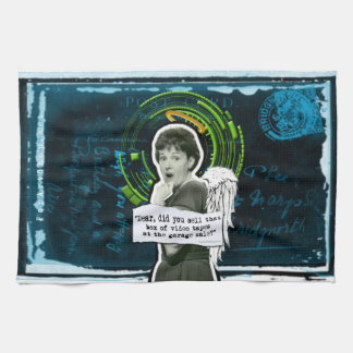 Retro Woman Lost Home Movies Hand Towel
