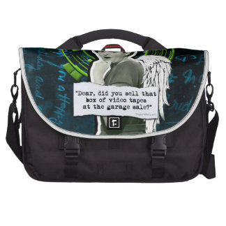 Retro Woman Lost Home Movies Laptop Bag
