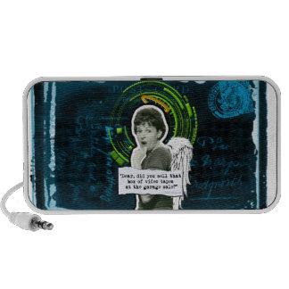 Retro Woman Lost Home Movies Portable Speakers