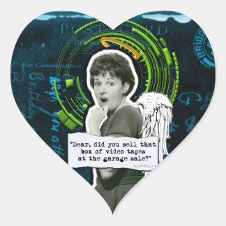 Retro Woman Lost Home Movies Sticker