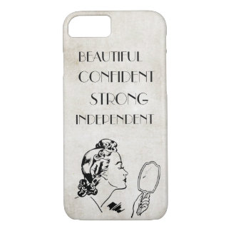 Retro Woman Mirror Strong Beautiful... iPhone 8/7 Case