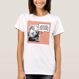 Retro Woman on Phone, Drama T-Shirt
