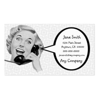 Retro Woman on the Phone Business Card