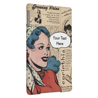 Retro Woman Personalise Speech Bubble iPad Air iPad Air Case