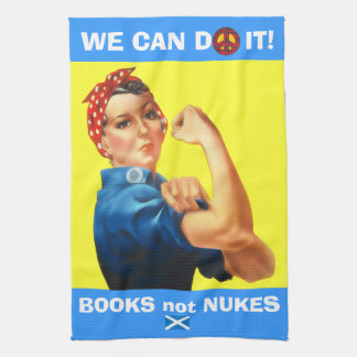 Retro Woman Scottish Independence No Nukes T Towel