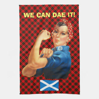 Retro Woman Scottish Independence Wallace T Towel