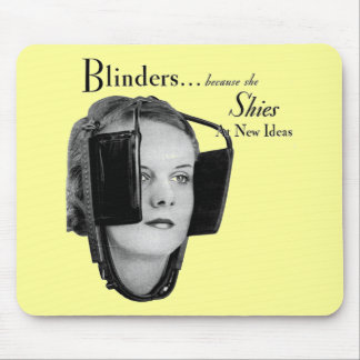 Retro Woman with Blinders Mousepad