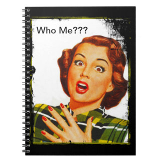 Retro Woman With Surprised Expression Notebook