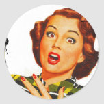 Retro Woman With Surprised Expression Stickers