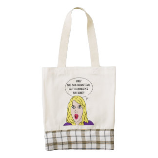 RETRO WOMAN with YOUR TEXT custom tote bag