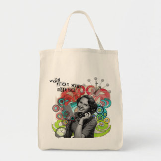 Retro Woman Word From Your Mother Bag