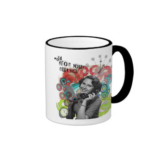 Retro Woman Word From Your Mother Mug