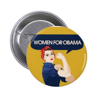 Retro Women for Obama 2 Inch Round Button