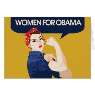 Retro Women for Obama Card