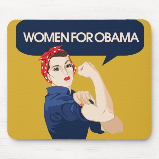 Retro Women for Obama Mouse Pad