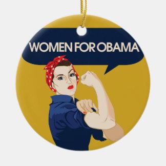 Retro Women for Obama Christmas Tree Ornament