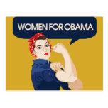 Retro Women for Obama Postcard