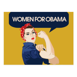 Retro Women for Obama Postcard
