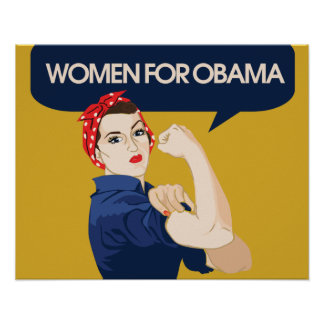 Retro Women for Obama Poster