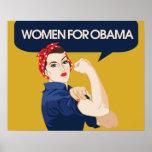 Retro Women for Obama Print