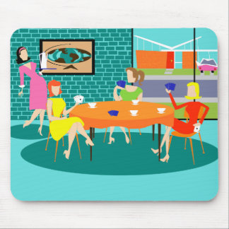 Retro Women's Weekly Card Game Mousepad