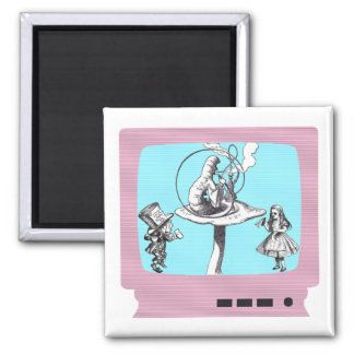 Retro Wonderland TV Magnet