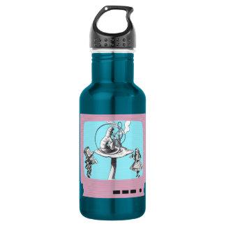 Retro Wonderland TV Stainless Steel Water Bottle