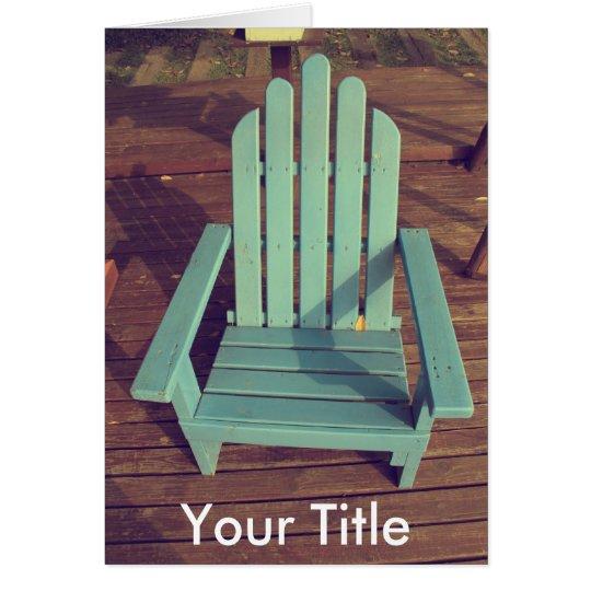 Retro Wood Chair Card