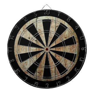 Retro Wood Wooden Texture Pattern Dart Board