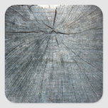 Retro Wood Wooden Texture Pattern Square Stickers