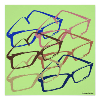 Retro Work Safety Glasses Artwork Poster