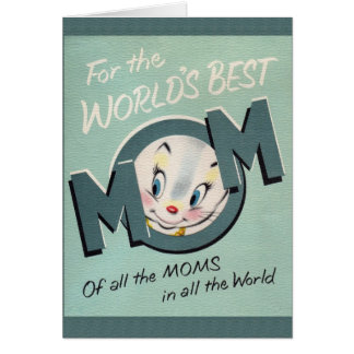 Retro World's Best Mom Mother's Day Card