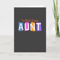 Standard Card with Retro World's Greatest Aunt design