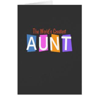 Retro World's Greatest Aunt Card