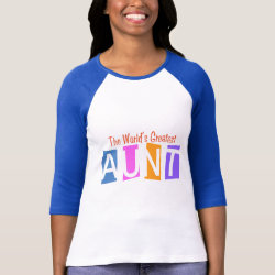 Ladies Raglan Fitted T-Shirt with Retro World's Greatest Aunt design
