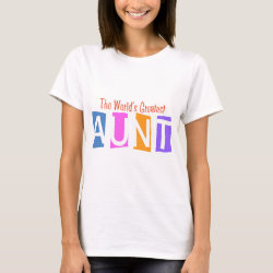 Women's Basic T-Shirt with Retro World's Greatest Aunt design