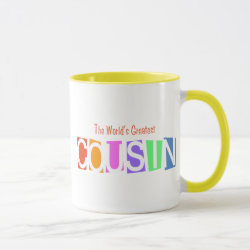 Combo Mug with Retro World's Greatest Cousin design