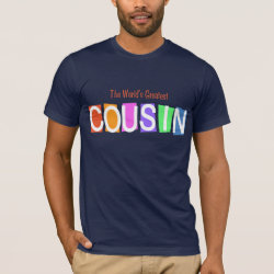 Men's Basic American Apparel T-Shirt with Retro World's Greatest Cousin design