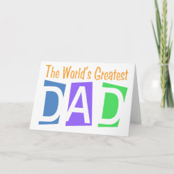 Retro World's Greatest Dad Standard Card