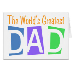 Greeting Card with Retro World's Greatest Dad design