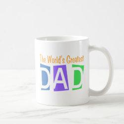 Classic White Mug with Retro World's Greatest Dad design
