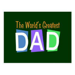 Postcard with Retro World's Greatest Dad design