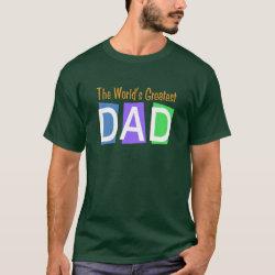 Men's Basic Dark T-Shirt with Retro World's Greatest Dad design