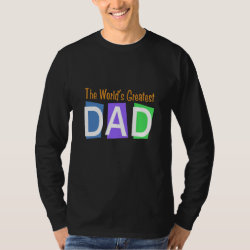 Men's Basic Long Sleeve T-Shirt with Retro World's Greatest Dad design