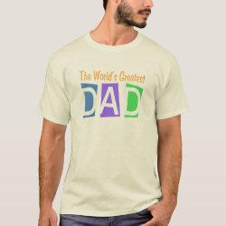 Men's Basic T-Shirt with Retro World's Greatest Dad design