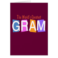 Greeting Card with Retro World's Greatest Gram design