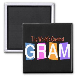 Retro World's Greatest Gram Refrigerator Magnet