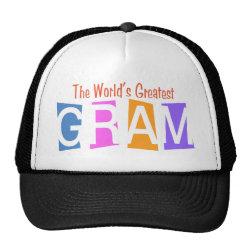 Trucker Hat with Retro World's Greatest Gram design