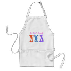 Apron with Retro World's Greatest Mom design